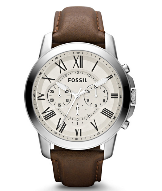 grant chronograph leather watch